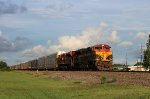 Pair of KCS ACes lead NB BNSF autorack