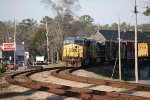 CSX AC60CW 621 and C40-8W 7312